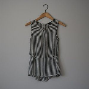 H&M Vertical Striped Sleeveless Blouse Size 2